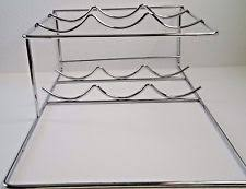 chrome countertop wine racks u0026 bottle holders ebay