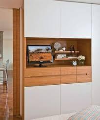 hight gloss bedroom set built in wardrobe with tv unit closet
