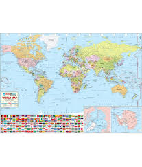 India On World Map Maps Of India World Map Buy Online At Best Price In India Snapdeal
