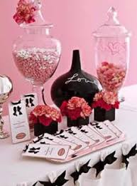 Pink And Black Candy Buffet by 46 Best Pink U0026 Black Decorations Images On Pinterest Pink Black