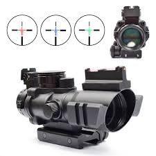 amazon acog black friday forum rifle scope tactical 4x32 red green blue triple illuminated rapid