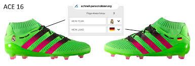 fuãÿballschuhe selbst designen adidas ace 16 selbst gestalten schuhe selbst gestalten