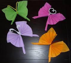 Pliage De Serviette En Papier 2 Couleurs Papillon pliage de serviette en papier en forme de papillon pliage en