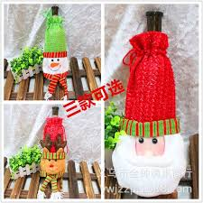 Christmas Decoration Supplies Wholesale by Santa Bag Christmas Champagne Red Wine Bottle Sets Christmas Gift