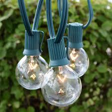 c9 incandescent light strings 25 commercial clear globe light strand 7w g50 bulbs