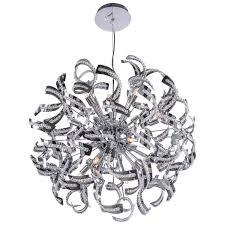 15 light chandelier joshua marshal 700086 001 15 light crystal ribbon pendant