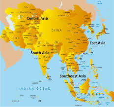 map of asai asia map showing countries regions