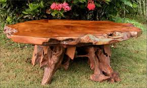 Rustic Teak Coffee Table Rustic Teak Wood Coffee Table Truck Pedestal Carved Look