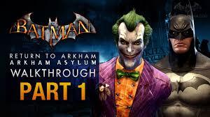 halloween city returns batman return to arkham asylum walkthrough part 1 intro youtube