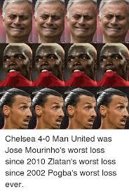Funny Man Utd Memes - chelsea 4 0 man united was jose mourinho s worst loss since 2010