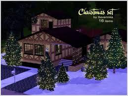 sims 3 holiday lights severinka s christmas set