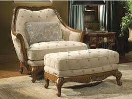 Chair And A Half Rocker Recliner Chair Cream Fabric Chair With Puffed Recliner Also Arm Rest