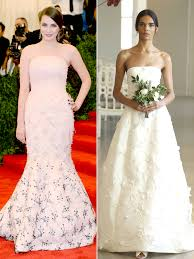 Celebrity Brides Who Wore Unconventional by Bee Shaffer U0027s Wedding Dress Predictions People Com