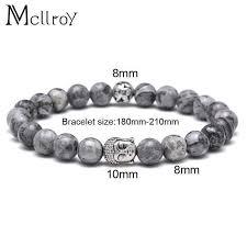 bracelet stone beads images Natural grey stone beads buddha bracelet mr peachy jpg