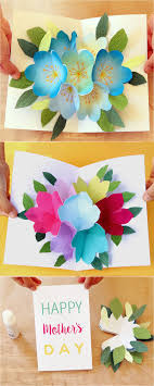 day cards to make pop up flowers diy printable s day card a of rainbow