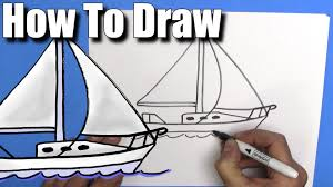 how to draw a sailboat step by step easy youtube
