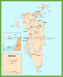 map of bahrain road map of bahrain