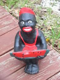black watermelon boy statue lawn jockey cousin w free bonus