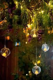 crystal teardrop glass candles 80mm round globe hanging tea light