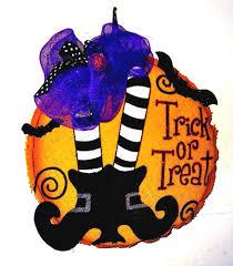 halloween lighted wall or door hanging trick or treat