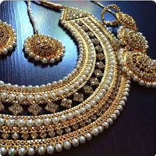 bridal wedding necklace set images Samples bridal jewelry sets with gold 24 carat and pearl assembled jpg