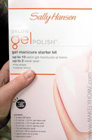 how to do gel nails at home sally hansen gel polish starter kit review