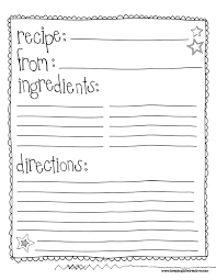 5 best images of free printable recipe sheets full page recipe