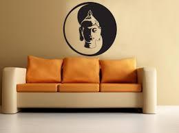 buddha yin yang wall decal buddha wall sticker meditation yoga
