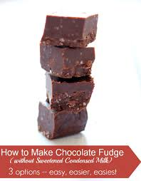 learn how to make chocolate fudge without sweetened condensed milk