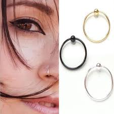 sale nose rings images Hot sale 2pcs 10mm silver gold black nose rings fashion simple jpg