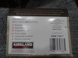 Machine Washable Bathroom Rugs by Kirkland Signature Reversible Cotton Bath Rug