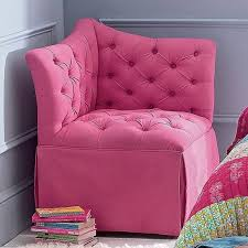 corner chair for bedroom comfortable chairs for teens pink tufted corner chair in teenager