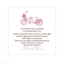 gift card registry wedding wedding invitation gift registry wording alannah wedding