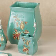 bathroom decor accessories in aqua blue for bathroom accessories