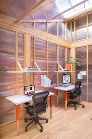 a mobile office to plug into unused urban spaces