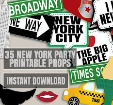 New York Themed Centerpieces by 35 New York Party Photo Booth Props New Yorker Themed Party Props