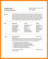 Restaurant Manager Resume Template 7 Manager Resume Template Wood