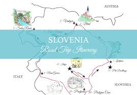 Trip Map A Road Trip In Slovenia Free Printable Map And More