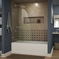frameless glass shower doors over tub waagee 55