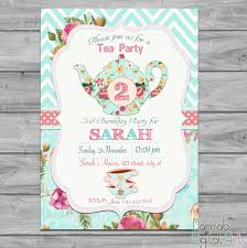 Tea Party Invitation Card Tea Party Invitation Tea For Two Invitation Tea For 2