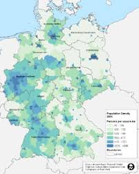 map of germny demographics of germany