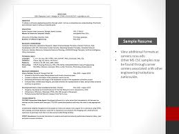 Resume For Computer Science Graduate Resumes M S In Computer Science Beverly Marchi Assistant Director