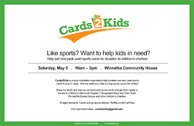 donate your time to cards2kids charity this weekend in illinois