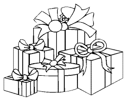 coloring page of christmas tree with presents christmas tree clipart present coloring page pencil and in color