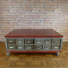 industrial coffee table with drawers coffee table industrial furniture ict003 la boutique vintage