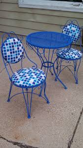 Vintage Bistro Chairs Wrought Iron Bistro Table And Chairs Vintage Set Refreshed Renewed