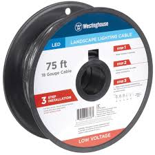 Landscape Lighting Cable 75 Ft 18 Low Voltage Cable 700026 The Home Depot