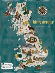 Map Of Medieval England by King Arthur Map Of Britain Visitbritain
