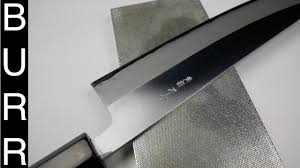 Sharpening Stone For Kitchen Knives by How To Sharpen Japanese Chef Knife On Atoma 140 Diamond Stone