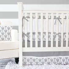 Gray And White Crib Bedding Sets Light Gray White Crib Bumpers Caden